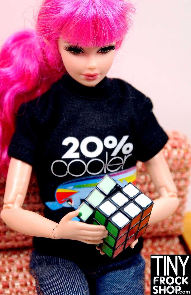 Barbie Worlds Smallest Rubik Cube - REALLY WORKS! NEW!