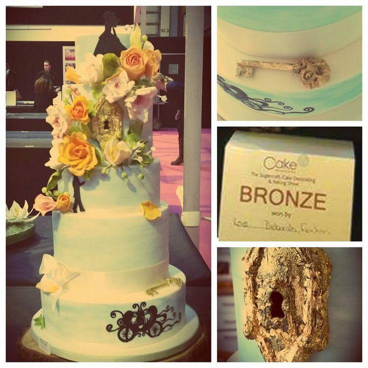 Cinderella Secret Garden Wedding Cake