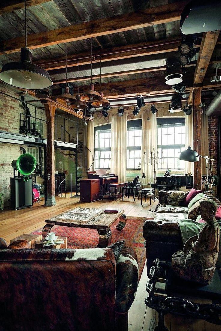 Черный потолок в квартире: 80 нестандартных и стильных реализаций http://happymodern.ru/chernyj-potolok-foto/ Черный деревянный потолок с контрастными светлыми потолками в интерьере в стиле лофт