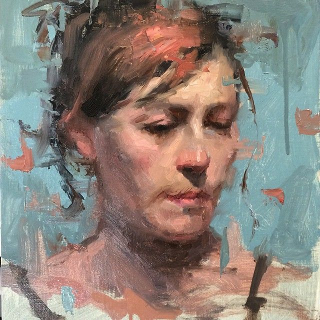 Painting from my portrait painting class today. A little ...