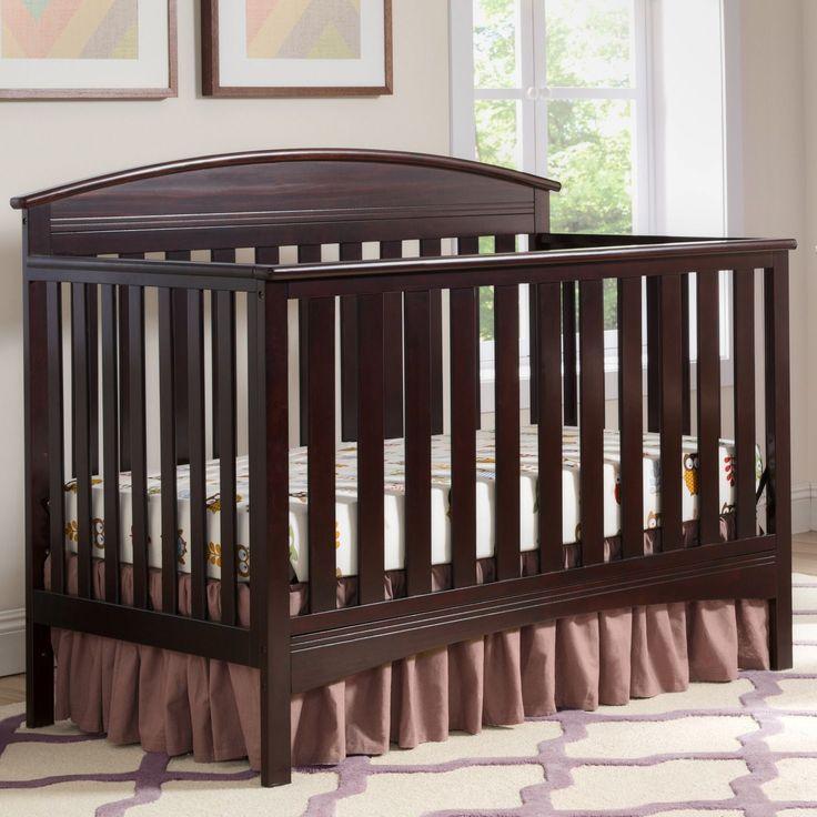 Delta Children Abby 4-in-1 Convertible Crib, Dark Chocolate (Standard Crib), Brown