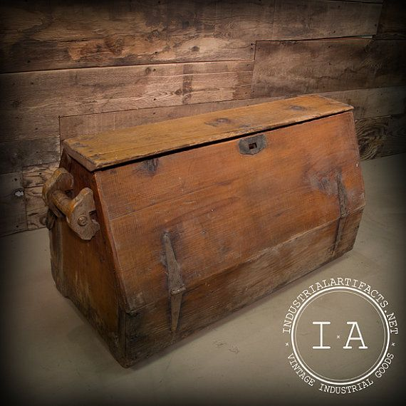Vintage Industrial Carpenter's Tool Box by IndustrialArtifact, $245.00