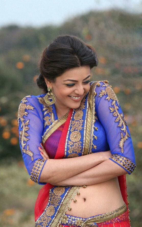 Kajal Agarwal ornate #Saree border, Blouse