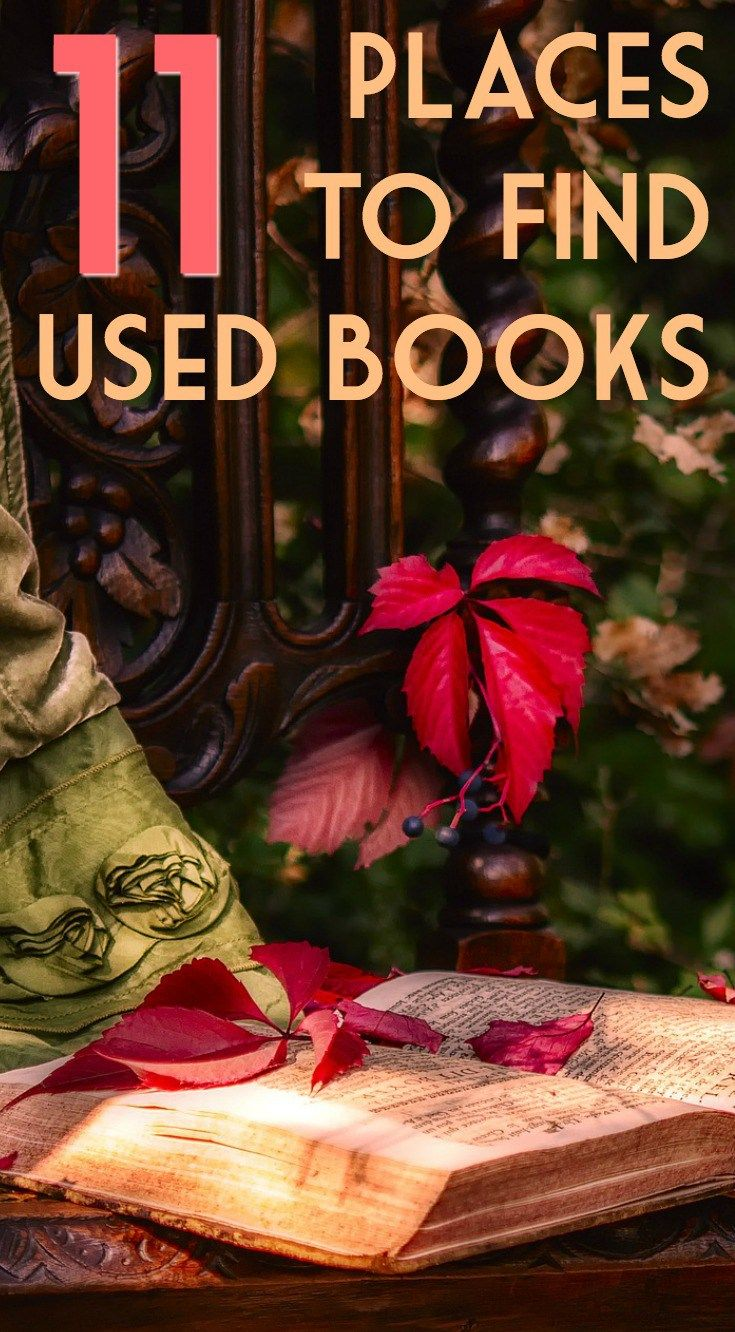 11 places to find and buy used books for cheap