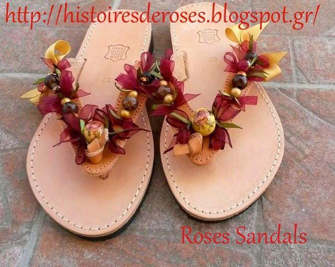 Histoires De Roses: Roses Sandals
