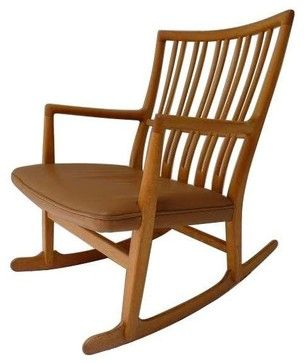 Pre-owned Hans Wegner 1942 ML-33 Rocking Chair midcentury-rocking-chairs