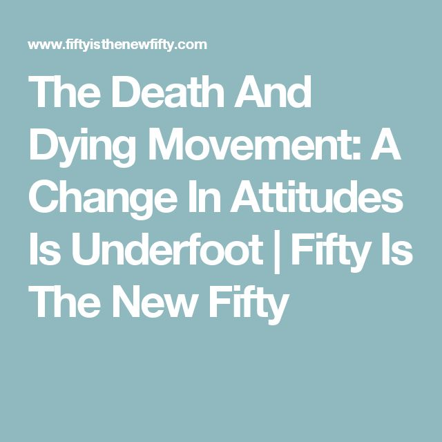 changing attitudes toward death and dying Read the full-text online edition of cultural changes in attitudes toward death, dying, and bereavement (2005) home » browse » books » book details, cultural changes in attitudes toward death, .