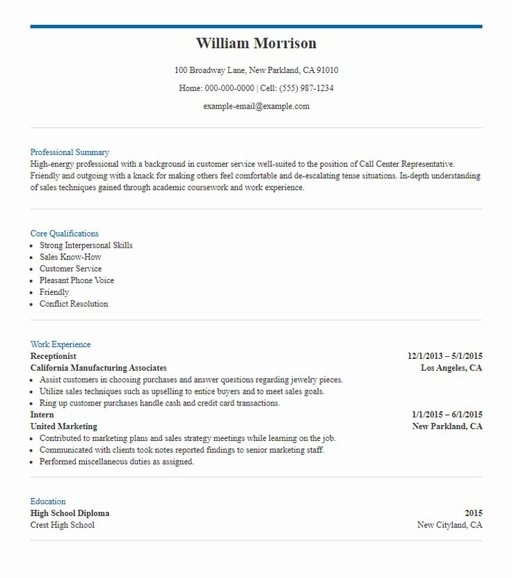 8 call center resume samples  the skills to include
