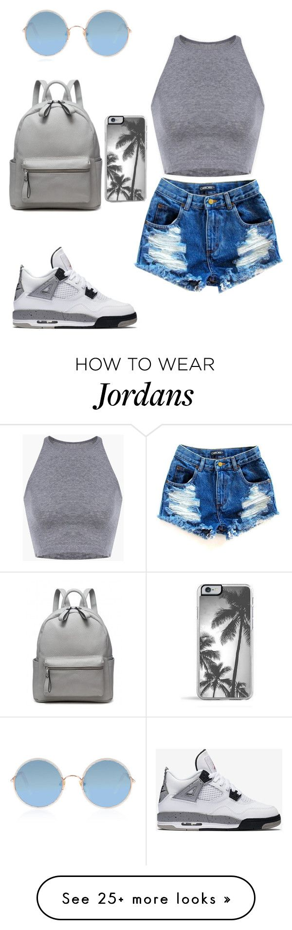 """-_Grey_-"" by queennailah on Polyvore featuring NIKE, Sunday Somewhere and Zero Gravity"