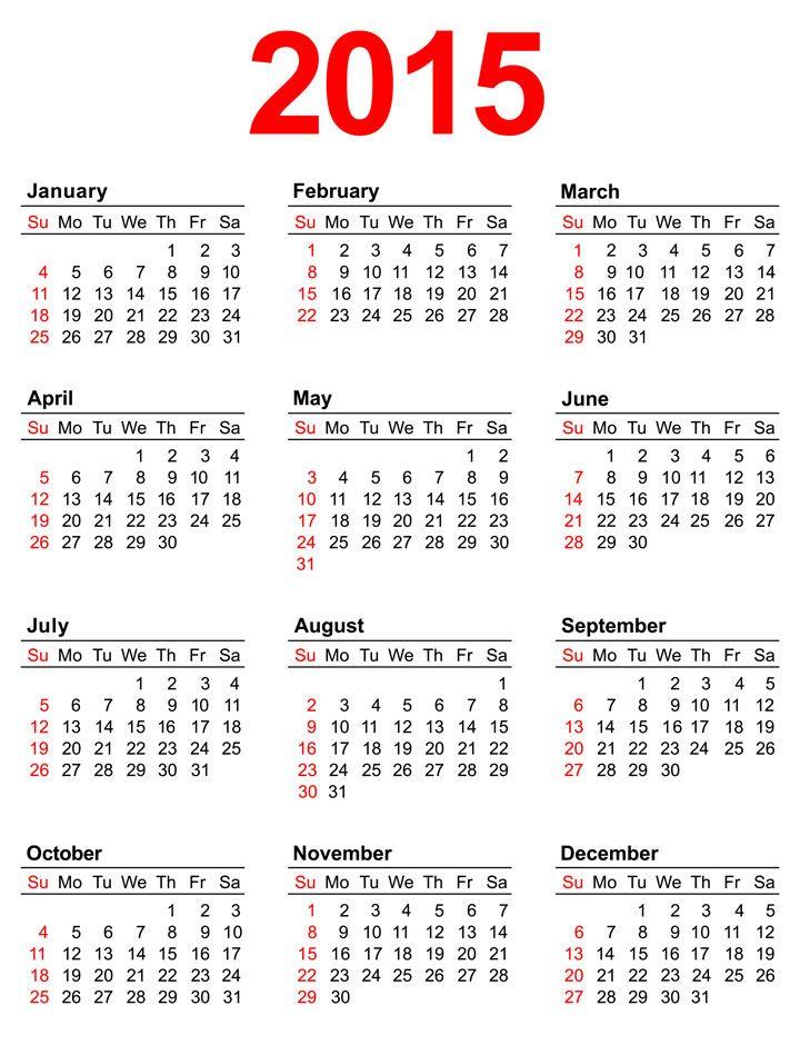 2015 calendars 2015 Calendar 2016 CALENDARS Pinterest - yearly calendar