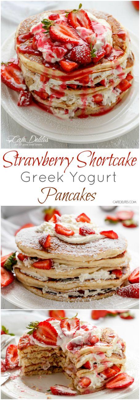 Strawberry Shortcake Pancakes   http://cafedelites.com