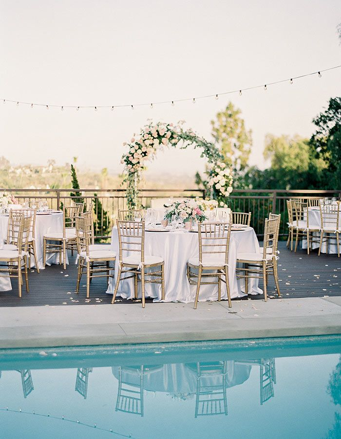 intimate wedding venues in orange county ca%0A Gorgeous Poolside Wedding At A Private Residence In Orange County