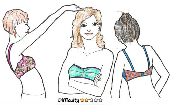 DOWNLOAD pattern BANDEAU from Dutch design Merckwaerdigh to make a bandeau top all by yourself. You can wear this as a bikini top or as lovely