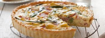 Ham, Camembert & Asparagus Quiche