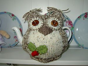 Owl Hand Knitted Tea Cosy