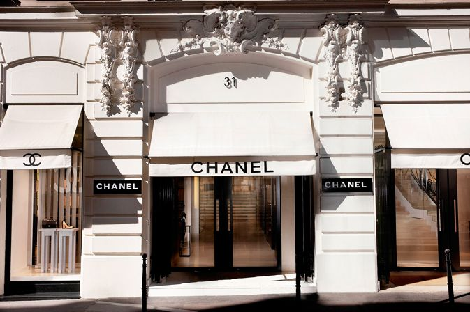 Chanel store located in Paris, France
