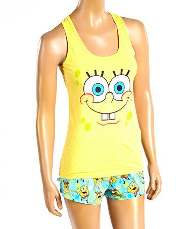 Loving this SpongeBob Pajama Set - Juniors on #zulily! #zulilyfinds