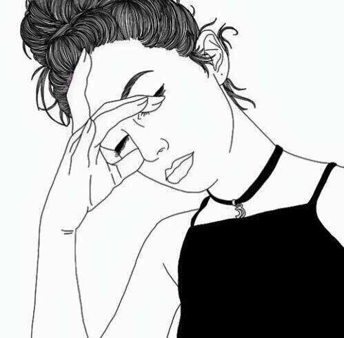 dessin, fille, Tumblr
