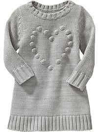 Popcorn-Heart Sweater Dresses for Baby...Old Navy
