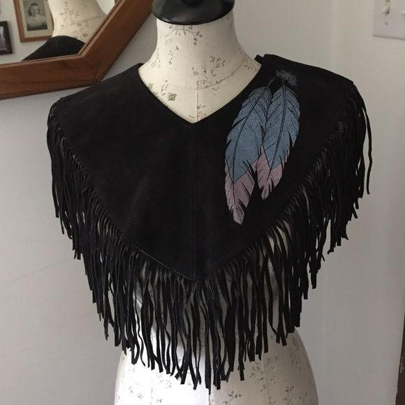 Pioneer Wear - 🐴 Leather Fringe Shawl 🐴 from Janet's closet on ...