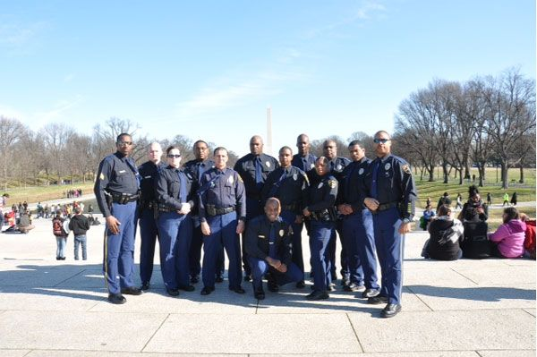 14 Birmingham Police officers are in Washington, D.C., to assist with inaugural security (photo source Birmingham Police Dept.)