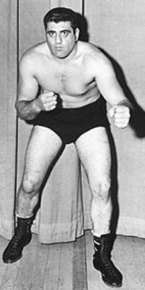 Lenny Montana when he was a wrestler, long before he became a made member of the Colombo family and stared in the movie 'the Godfather'.
