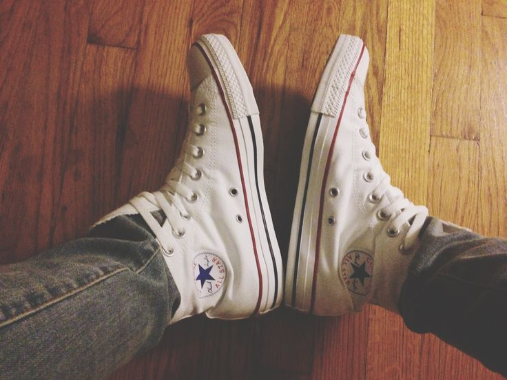 white converse high tops. These r my fav shoes I own
