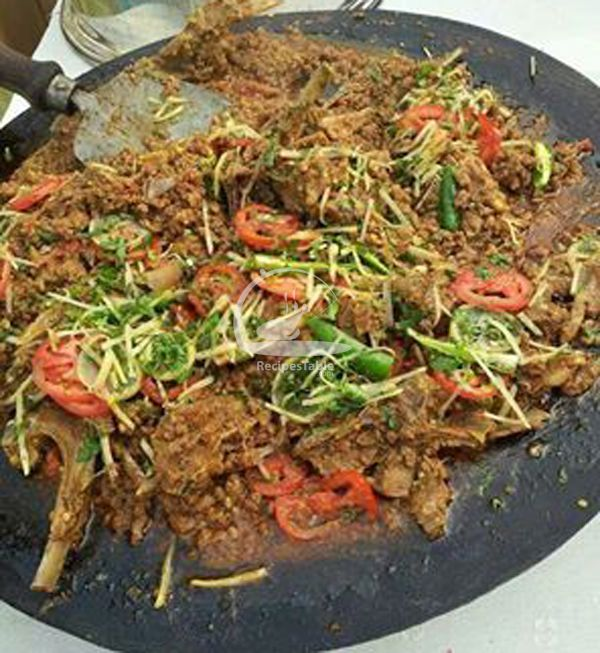 Tawa Gosht is a special Pakistani Restaurant and Roadside dish cooked on a griddle (tawa) to impart special flavours. Check it out the Tawa Gosht recipe here!!