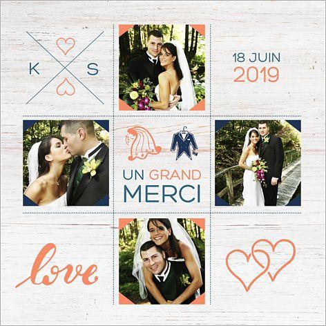 Carte de remerciements de mariage : Créatif à personnaliser sur http://www.popcarte.com/cartes-flash/carte-remerciements/remerciements-mariage-creatif.html