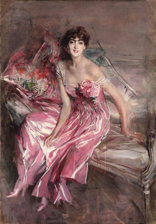 Giovanni Boldini, La Signora in Rosa, (Ritratto di Olivia de Subercaseaux Concha) 1916