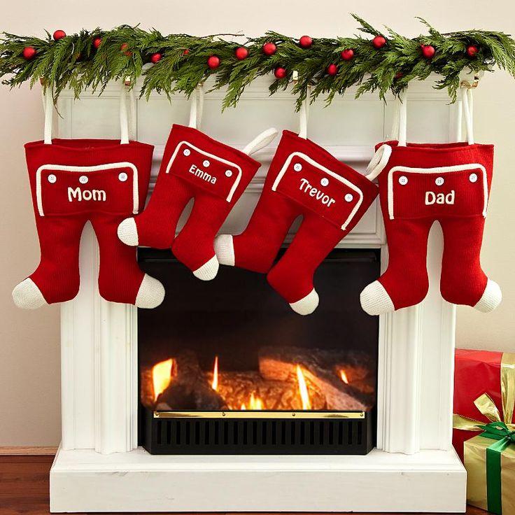 Knit Long John Christmas Stocking