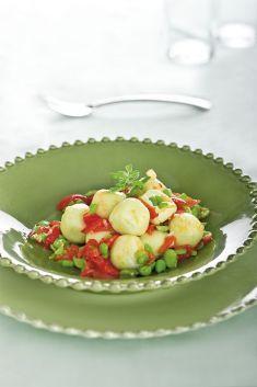 Gnocchi alle fave con pomodorini saltati alla maggiorana - Tutte le ricette dalla A alla Z - Cucina Naturale - Ricette, Menu, Diete