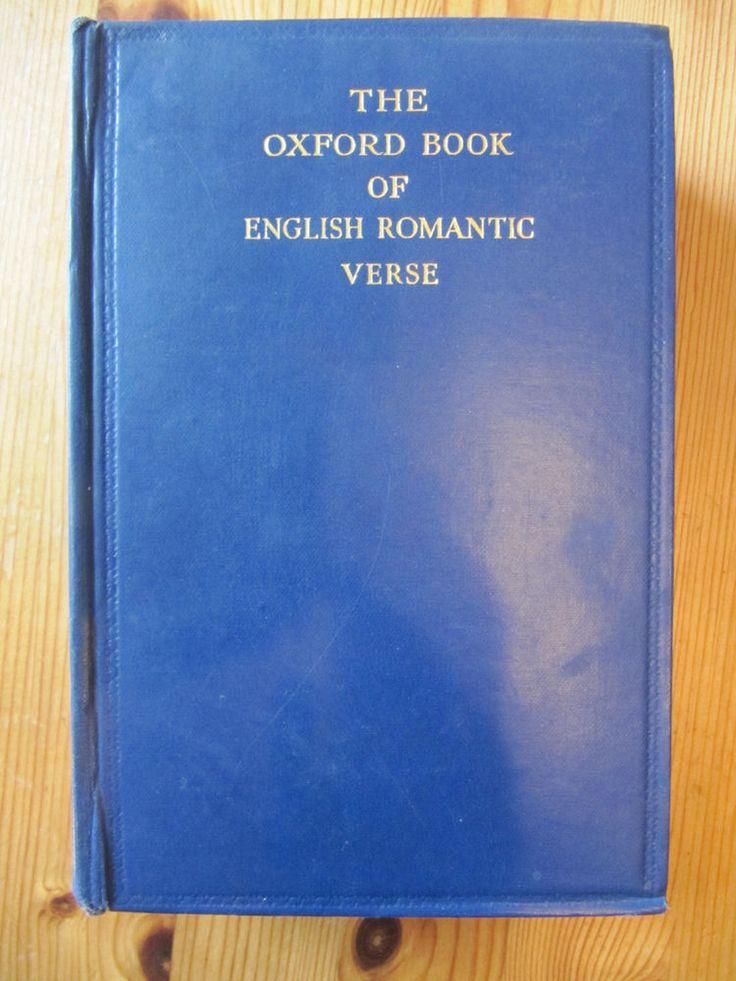 The Oxford Book of English Verse of the Romantic Period  1946 mit Signatur