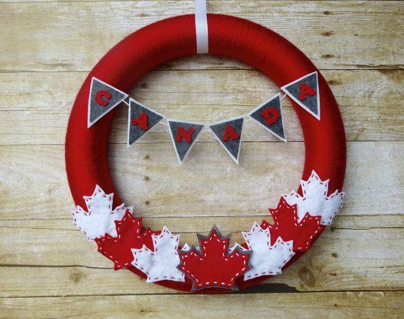 Canada Day Felt Wreath Felt Wreath Canadian Wreath Canada