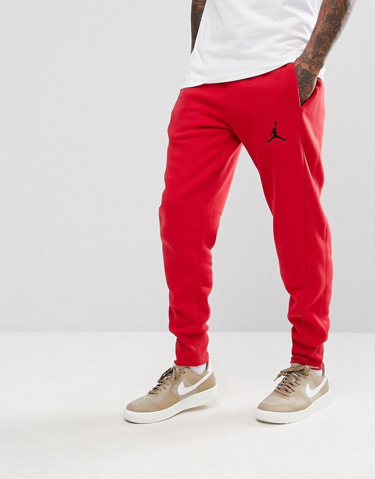Get this Jordan's joggers now! Click for more details. Worldwide shipping. Nike Jordan Flight Joggers In Red 823071-687 - Red: Joggers by Jordan, Supplier code: 823071-687, The perfect kit for the gym or a lazy Sunday, You decide, Stretch waistband, Side pockets, Logo detail to leg, Fitted cuffs, Regular fit - true to size. Ever since his game-changing jump shot sealed the 1982 NCAA Championship, Michael Jordan has been setting new standards in scores and style for basketball. After first…