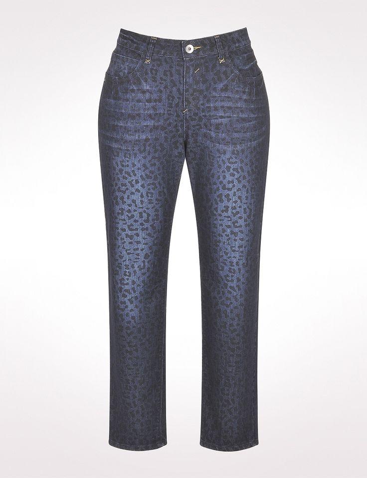 Plus Size | Jeans | Roz & ALI Plus Size Leopard Print ...