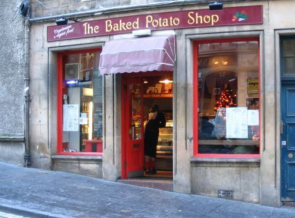 The baked potato shop in Edinburgh. Affordable &delicious just off the Royal Mile