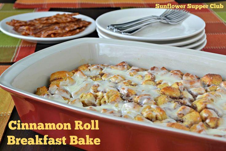 Cinnamon Roll Breakfast Bake from Sunflower Supper Club