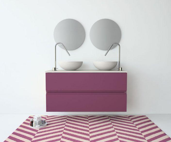 Muebles de baño, propuestas de composiciones para conseguir amplitud en el almacenaje: cajones, puertas correderas, abatibles, huecos vistos, etc. unibaño-compactos-almacenaje-17