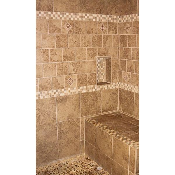 walk in shower with bench bathroom makeroversbrenda bathroombathroom remodel - Walk In Shower Tile Design Ideas