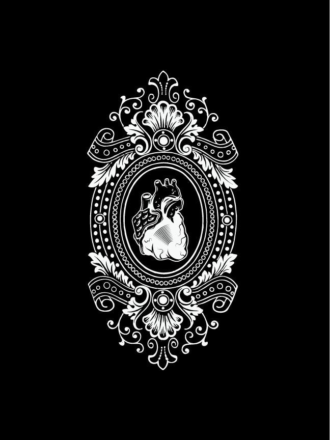 Coeur de poète - Laser etch relief, Victorian anatomy themed posters $18 #anatomy