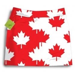 Loudmouth Ladies Golf Skort-Canadian Flag