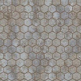 Textures Texture seamless | Dirty stone paving outdoor hexagonal texture seamless 06035 | Textures - ARCHITECTURE - PAVING OUTDOOR - Hexagonal | Sketchuptexture