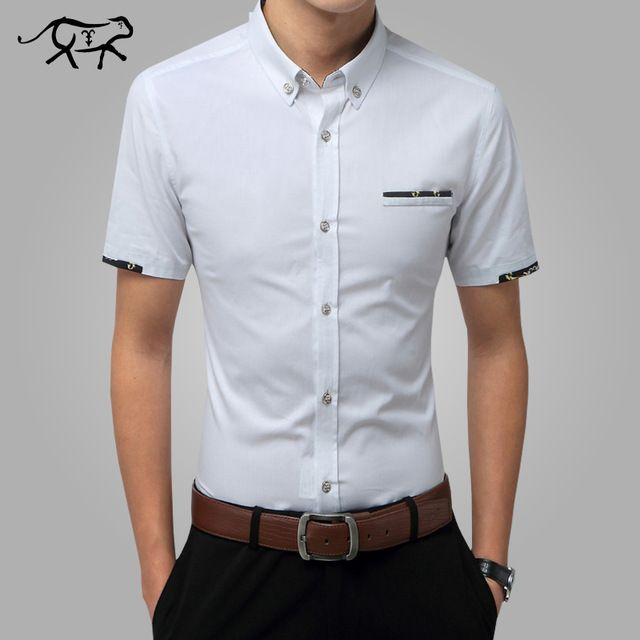 Special price 2017 New Men Shirts Brand Turn-down Collar Slim Fit Mens Chemise Homme Casual Summer Business Shirt Mens Short Sleeve M-5XL just only $10.78 - 11.27 with free shipping worldwide  #shirtsformen Plese click on picture to see our special price for you