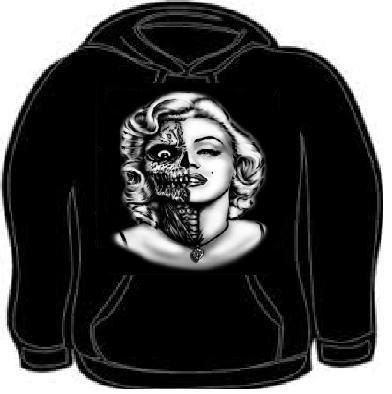hoodie: marilyn  Actress sugar skull face movie Hooded