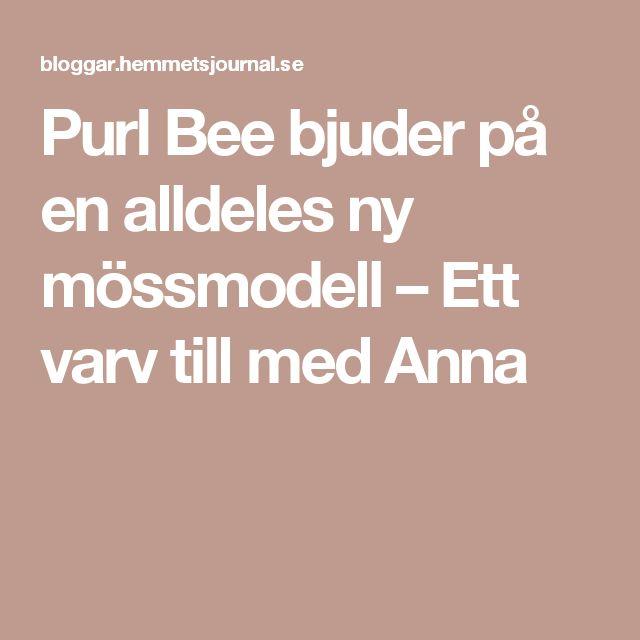 Purl Bee bjuder på en alldeles ny mössmodell – Ett varv till med Anna