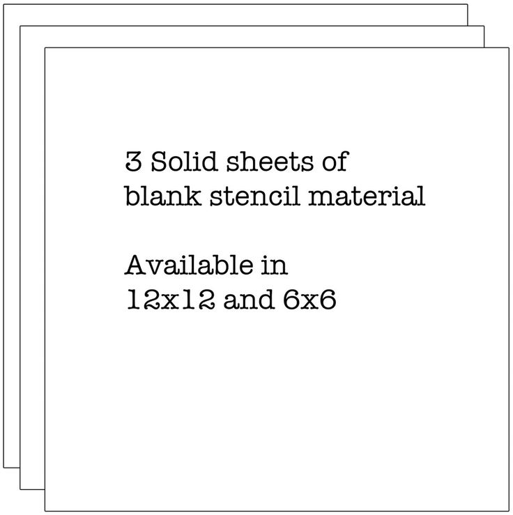 """Crafter's Workshop Template Stencil Sheets 6"""" x 6"""""""