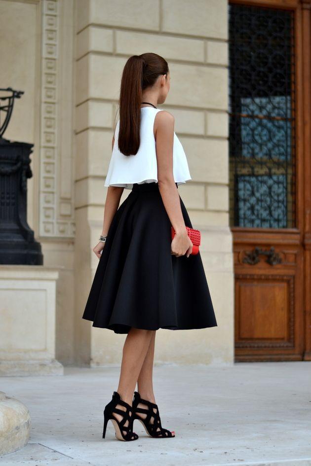 Midi Skirt + Zara Sandals