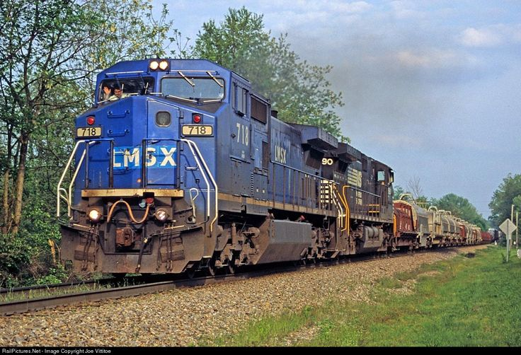 RailPictures.Net Photo: LMSX 718 Locomotive Management Services GE C40-8W (Dash 8-40CW) at New Albany, Indiana by Joe Vittitoe