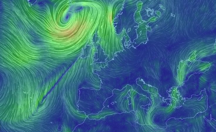 map of winds around the world